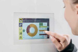 App voor warmtepomp op smartphone